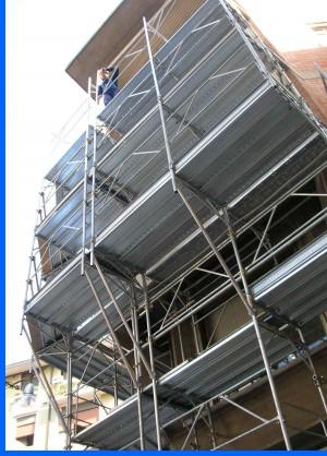 Bracket-scaffolding